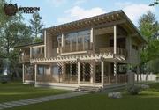 Проект дома из клееного бруса Вилла Леонотис - foto 0