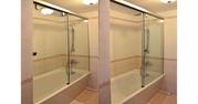 Стеклянные складные шторки для ванной - foto 0